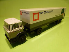 LION CAR DAF 1900 TURBO TRUCK + TRAILER - VAN GEND & LOOS - WHITE 1:50 - VG