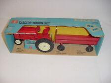 1/16 Vintage International 544 Tractor & Barge Wagon Set W/Blue Box by ERTL!