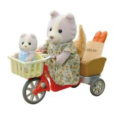 Sylvanian Families Fahrradfahren mit Mutter Baby Rad Hundefamilie Hunde Fahrrad