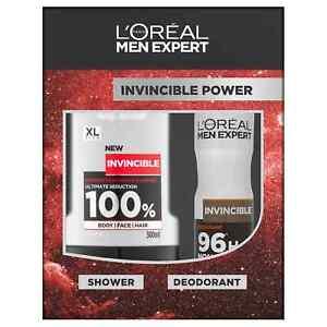 L'oreal Men Expert Invincible Power Gift Set, Intense Fragrance Shower&Deodorant