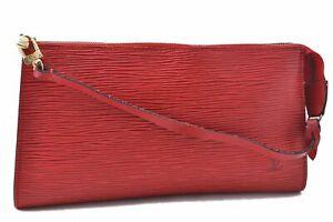 Authentic Louis Vuitton Epi Pochette Accessoires Pouch Red LV A5832