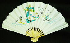 Thang Long Water Puppet Theatre Hanoi Paper & Wood Collapsible Souvenir Hand Fan