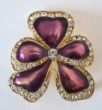 YSL YVES SAINT LAURENT ENAMEL FLORAL PIN BROOCH