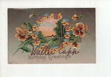 Antique Post Card - Walter Capp - Birthday Greetings