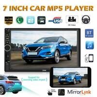 SWM 7 inch  2DIN Car Stereo MP5 Player Touch Screen Bluetooth AUX Radio FM Radio