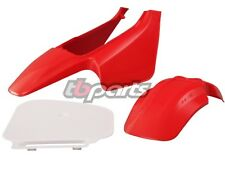 HONDA Z50 RED PLASTIC KIT FRONT REAR FENDERS FENDER NUMBER PLATE 1988 - 1999
