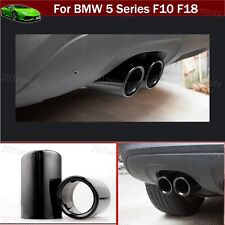 2pcs Black Exhaust Muffler Tail Pipe Tip Tailpipe For BMW 5-Series F10 2011-2018