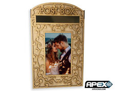 Wedding Party Post Box - Flourish 2 - Delicate Lace Floral Pattern Photo Frame