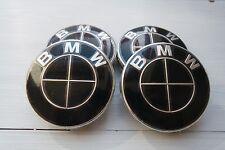 BMW Nabendeckel Felgendeckel NEU 68mm 4 Stück Schwarz e60 e90 M3 M5 Neu 320 530