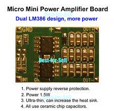 DC 3V-12V 5V Dual LM386 Micro Auido Power Amplifier Board Mini Amp Module 1.5W