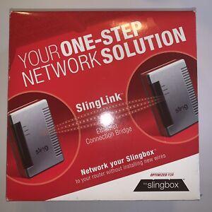 SlingLink Ethernet Connection Bridge Sling Media  New Open Box See Pics E25
