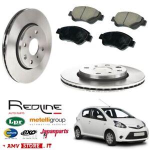 Kit Dischi freno e pastiglie Toyota Aygo dal 2005 tutti i modelli