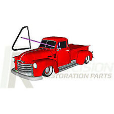 51-55 Chevy Truck Door Vent Window Glass Seals 4-PC Rubber Weatherstrip Kit