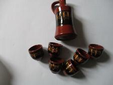Karaffe Krug Keramik mit 6 Bechern !!!