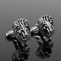 2pcs Lion Head Cufflinks Luxury Jewelry Accessories Cuff Buttons Pins Tie Clip s