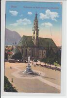 AK Bolzano, Bozen, Waltherplatz u. Waltherdenkmal, Südtirol 1910