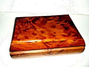 FAIRTRADE HANDMADE  THUYA WOOD JEWELLERY BOX  from Morroco 19cms x 14cms x7cms