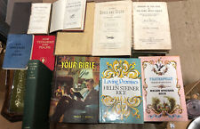 Collection Of Antique And Vintage Christian Religious Books Of Various Kinds