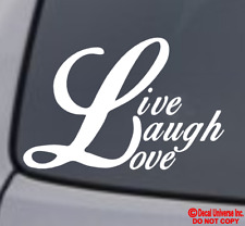 LIVE LAUGH LOVE VINYL DECAL STICKER WINDOW WALL CAR BUMPER LAPTOP FAMILY CUTE