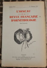 L'OISEAU et la Revue française d'Ornithologie ✤ VoL XXV / 2è trimestre 1955