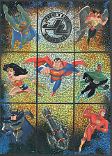 JUSTICE LEAGUE (Inkworks) WORLD'S GREATEST HEROES Complete Prism Card Set (9)
