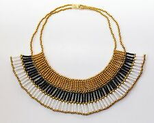 Cleopatra Halskette, Ägyptischer Pharao-Kragen, Handarbeit aus Ägypten,
