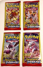Pokemon Factory Sealed Set Of 4 XY Break Through Dollar Tree Booster Packs
