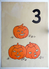 School Classroom Poster Halloween Jol Jack-O-Lanterns Numbers Lessons Cue Cards