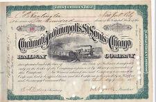 Cincinnati Indianapolis St.Louis and Chicago RW -Collis P. Huntington- 1880