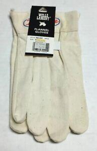 Vtg Wells Lamont Flannel Gloves Mens Style 70A-COT Cotton True Value Hardware