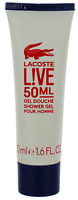 L!ve Noir by Lacoste For Men Shower Gel 1.6oz  New