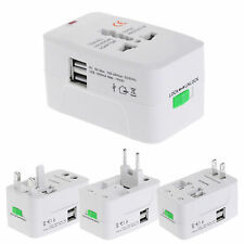 Universal Travel AC Power Charger Adapter Plug Converter AU UK US EU 2 USB Port