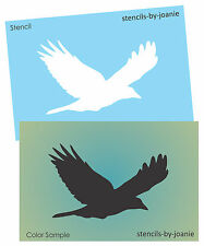 Bird STENCIL Flying Crow Prim Rustic Lake House Mountain Cabin Decor Art Signs