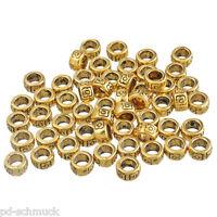 100 Antikgold Spacer Perlen Metall Perlen 4x7mm