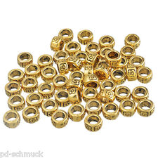 100 Antikgold Spacer Perlen Metall Perlen 4x7mm