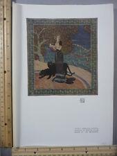 Rare Antique Orig VTG 1905 Circe Gobelins Tapestry Edmond Dulac Litho Art Print