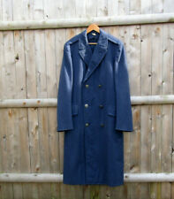 Vintage United States Air Force Military Officer's Blue Wool Trench Coat 37Xl