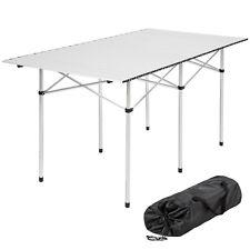 Table de camping de jardin pliante en aluminium pliable portable XXL 140x70x70cm