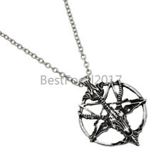 Baphomet Goat Head Pendant Skull Star Vintage Chain Necklace Jewelry Gift 1Pc