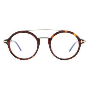Tom Ford Eyeglasses FT5596-B 052 Dark Havana Blue Light Block Men Women