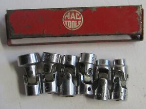 MAC TOOLS 6 UNIVERSAL SOCKETS WITH METAL HOLDER