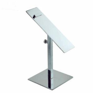 Silver Mirror Metal Adjustable Shoe display stand holder racks