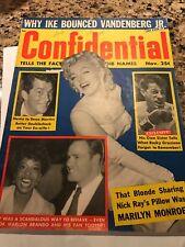 MAG. CONFIDENTIALCOVER  MARILYN MONROE  NOV. 1956