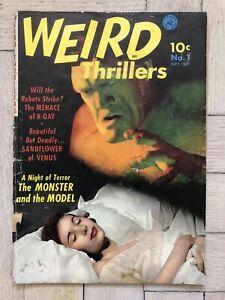 WEIRD THRILLERS #1 — 1951 ZIFF-DAVIS GOLDEN AGE HORROR SCI-FI PHOTO COVER