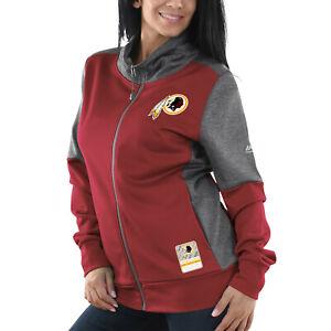 """Washington Redskins Women's Majestic NFL """"Speed Fly"""" Full Zip Fleece Jacket"""