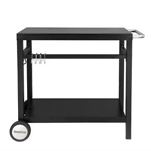Royal Gourmet Movable Dining Cart Work Table   Steel Flattop Worktable PC3401B