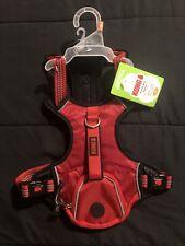 "Kong Comfort Reflective Wastebag Dog Harness 21""-29"""" Medium Red ""Brand New"""