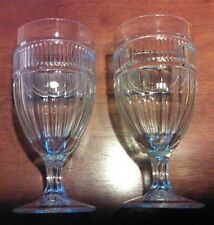 Two Vintage Anchor Hocking Annapolis Clear Iced Tea Water Sundae Glasses 16 oz.