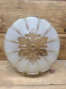 Vintage Art Deco Light Frost Glass Ceiling Light Lamp Shade 1 Hole Mount