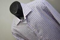 34256 Mens Bugatchi Uomo French Cuffs Striped Button Up Dress Shirt Size 2XL XXL
